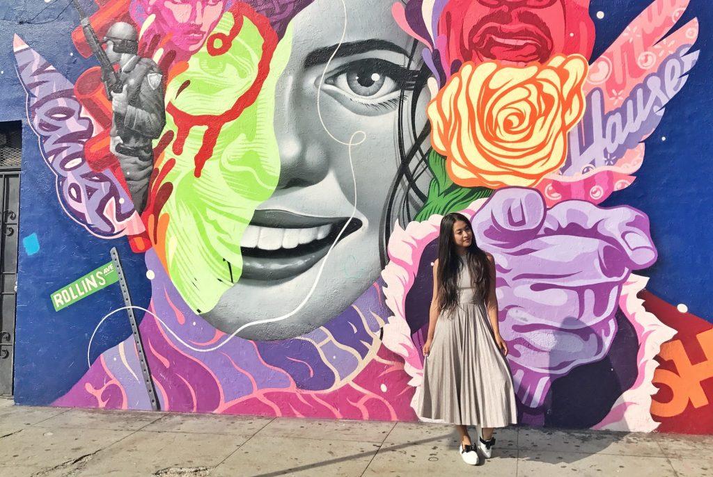 Instagram-Worthy Walls in Los Angeles: DTLA Edition - Woman on the Wall