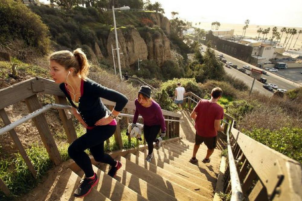 LA Outdoor Workouts - Santa Monica Stairs